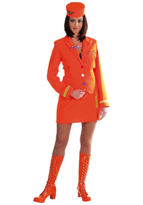 verhuur - carnaval - Uniform - Airhostess oranje