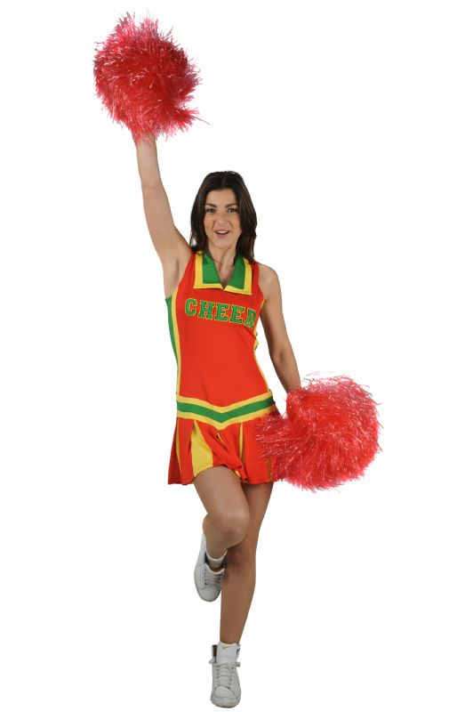 verhuur - carnaval - Uniform - Cheerleader groen