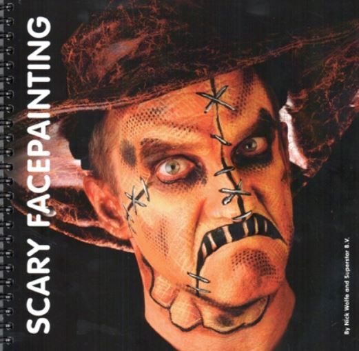 verkoop - attributen - Halloween - Schminkboek Scary Facepainting