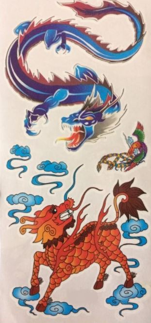 verkoop - attributen - Kamping Kitch & Bal Marginal - Tattoo chines draak blauw