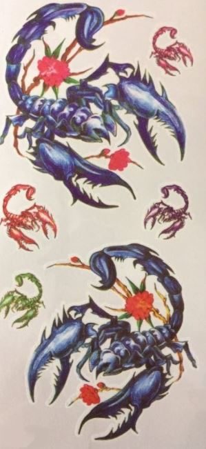 verkoop - attributen - Kamping Kitch & Bal Marginal - Tattoo scorpioen blauw