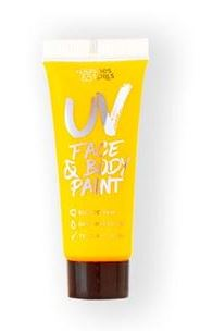 verkoop - attributen - Make-up - UV body and face paint tube geel
