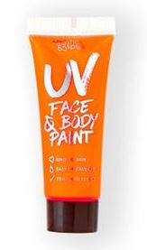 verkoop - attributen - Make-up - UV body and face paint tube oranje